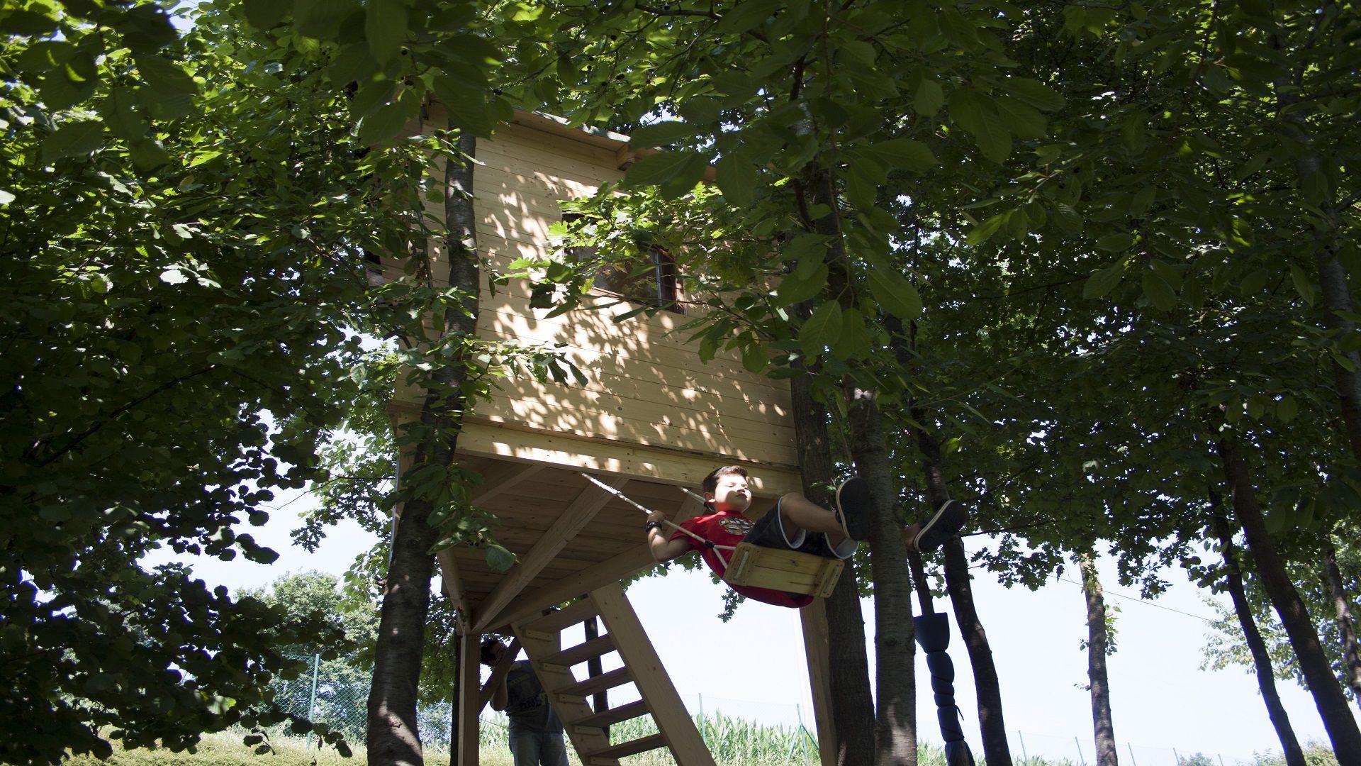 casetta sugli alberi