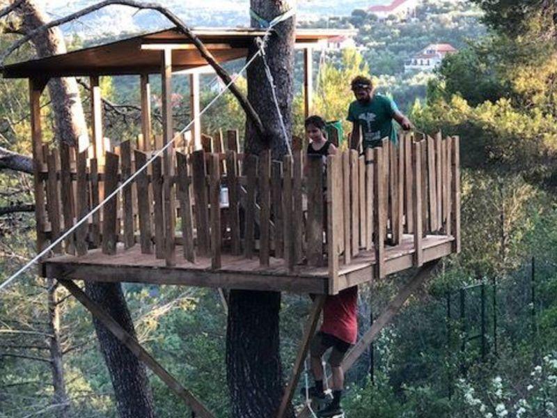 costruire terrazze sugli alberi